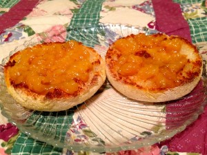 English muffin peach preserves